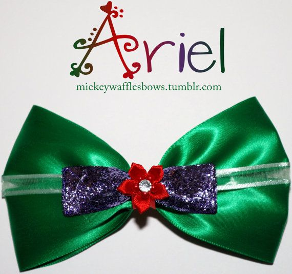 Ariel Hair Bow by MickeyWaffles on Etsy