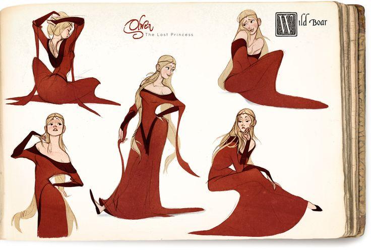 Character Design Page : Celia kaspar character design page