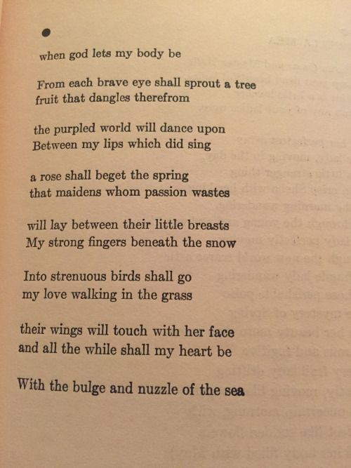 the poetry of ee cummings essay Ee cummings childhood & early years cummings was born on october 14, 1894 in cambridge, massachusetts to edward cummings and rebecca haswell clarke he was the eldest child of his parents and had younger sister elizabeth, born in 1901.
