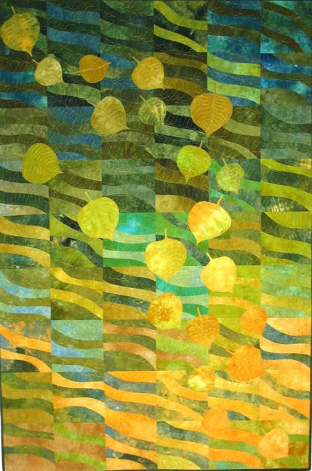 Losses by Elaine Quehl Art Quilt