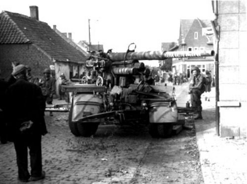 88mm dual purpose artillery piece captured in Eindhoven on 18 September, 1944