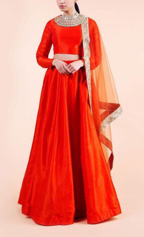 Red Bridesmaid Indian dress Indian designer lehenga skirt indian bridesmaids outfit indian traditional lengha dress silk sangeet lehenga