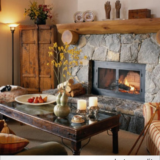 Love the Fireplace Mantle!