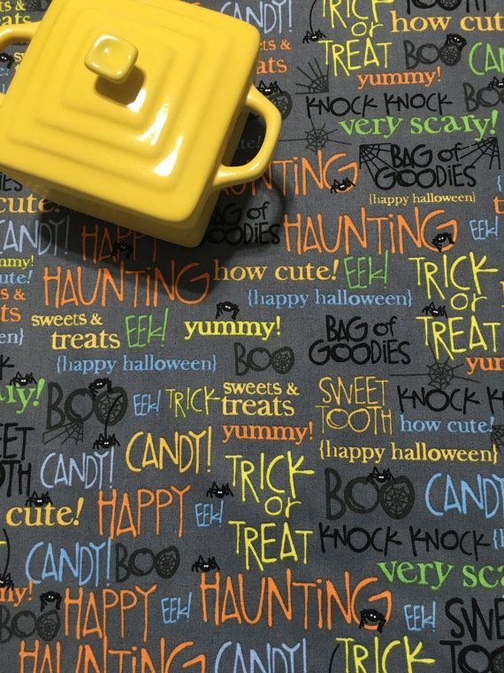 Halloween Dish Mat Kitchen Towel Words By MakingSomethingHappy