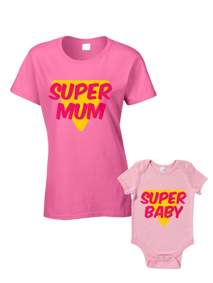 Super Mum Super Baby T-Shirts or Baby Grow - Matching Mother Child Gift Set (2 shirts) - Mother's Day Present Mum Son Daughter Baby Shower by BlueIvoryLane on Etsy https://www.etsy.com/listing/197916818/super-mum-super-baby-t-shirts-or-baby