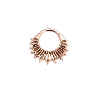 BVLA ~ STARR #36-0116 Rose gold filigree inspired ring with a hinge closure