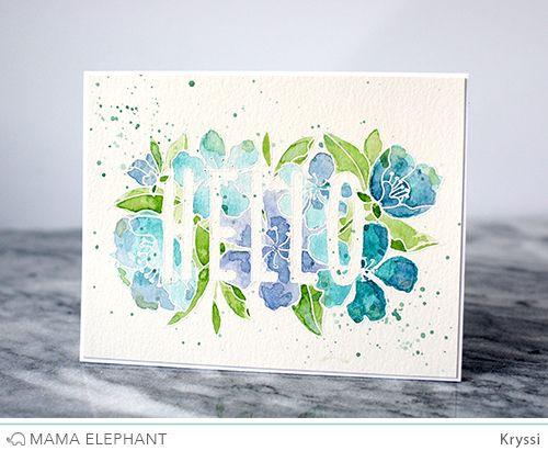 mama elephant | design blog: INTRODUCING: Botanic Hello