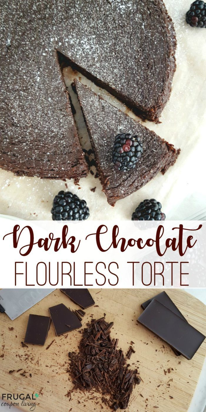 You will want to save this Dark Chocolate Flourless Torte. So delicious and this...