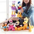 6 pçs/set Mickey e Minnie Mouse, pato Donald e margarida, cão Pateta, Pluto cão, De Pelúcia Engraçado brinquedos de Pelúcia Boneca Melhores Presentes para As Crianças