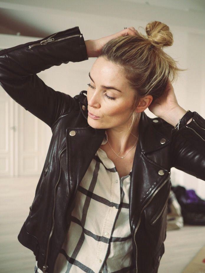 Chignon, Veste en cuir, Total look... - Tendances de Mode