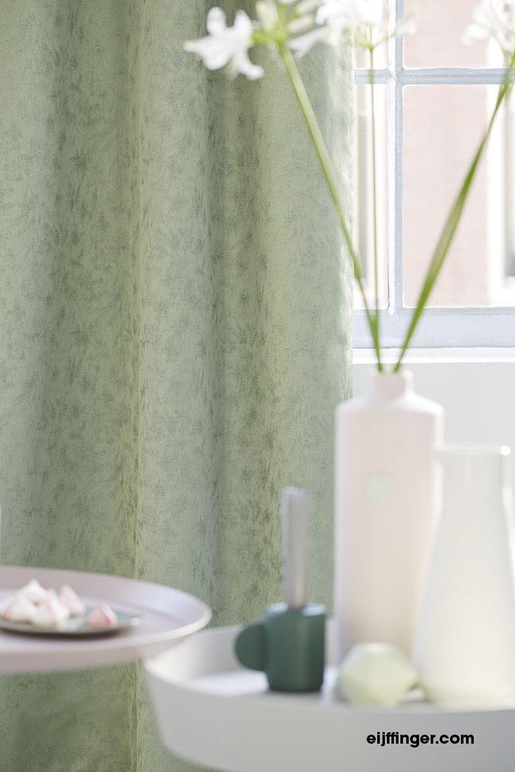 Eijffinger #gordijn Jolie in #groene kleur. #inspiratie #gordijnen #curtains www.onlinegordijnenshop.nl