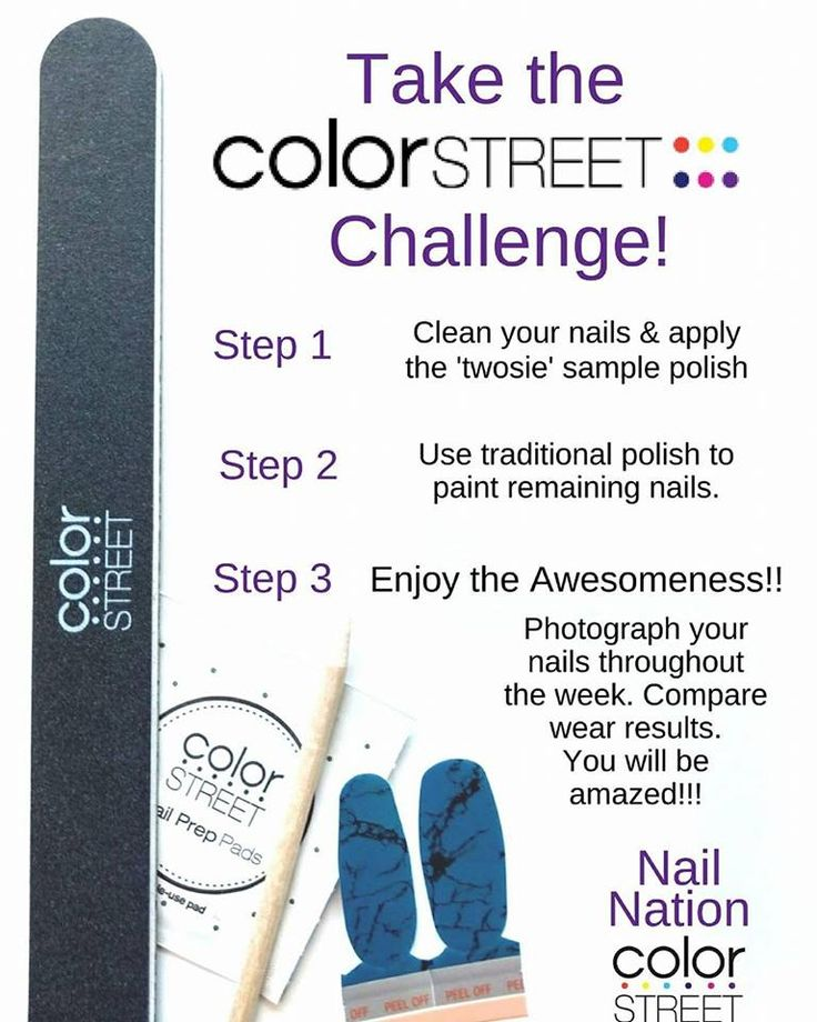 Who is up for the challenge?!? Color Street Strips!! 100% nail polish strips. NO dry time NO heat required!! For a FREE sample please fill out my google form https://docs.google.com/forms/d/e/1FAIpQLScZlzRr2NmPuB4LbgMArRMbUWsrBkxR4TUft4N7BhKWsGwvTg/viewform