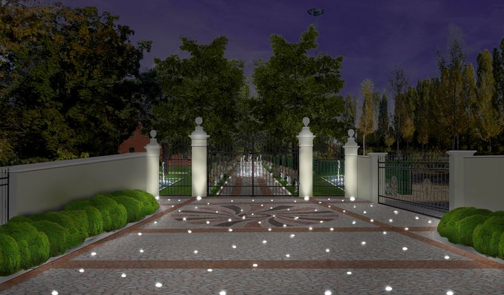 L'lluminazione del giardino di una villa veneta