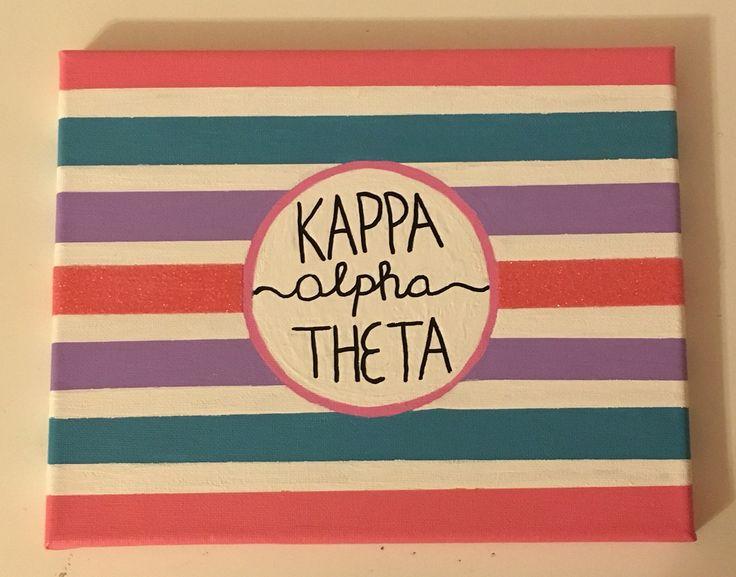 Kappa Alpha Theta ΚΑΘ sorority canvas