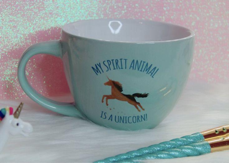 My spirit animal is Unicorn teal mug