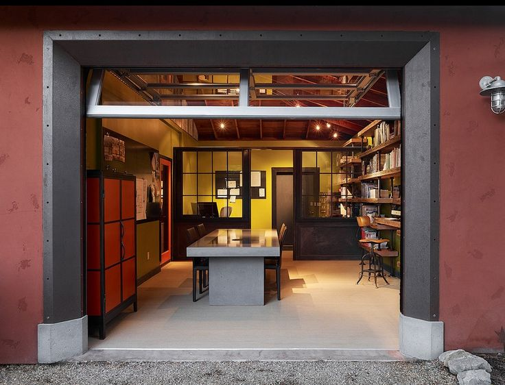 Garage office garage remodel pinterest for Home office renovation ideas