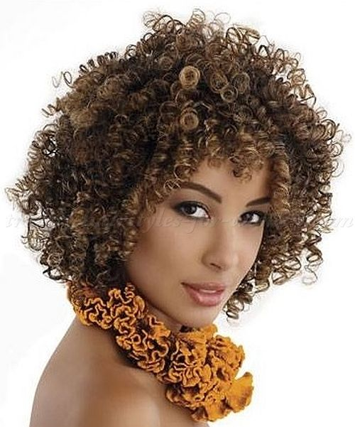 Medium Length African American Hairstyles Mid Natural Curly Shoulder For Hair