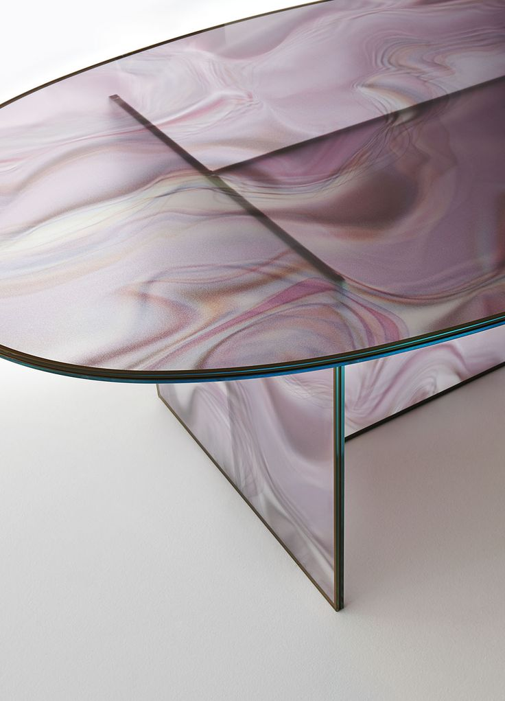 Glas Italia LIQUEFY table by Patricia Urquiola