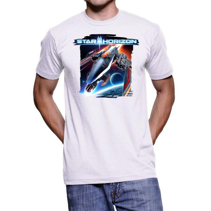 Star Horizon men's t-shirt white