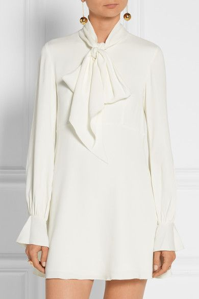 Ivory crepe Zip fastening along front  96% viscose, 4% elastane; lining: 100% polyester Dry clean Imported