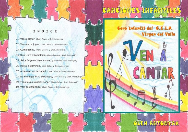 """CANCIONES INFANTILES : Partituras del cancionero infantil """"VEN A CANTAR"""""""
