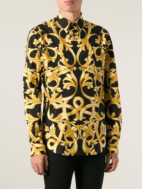 Versace Camisa estampa barroca