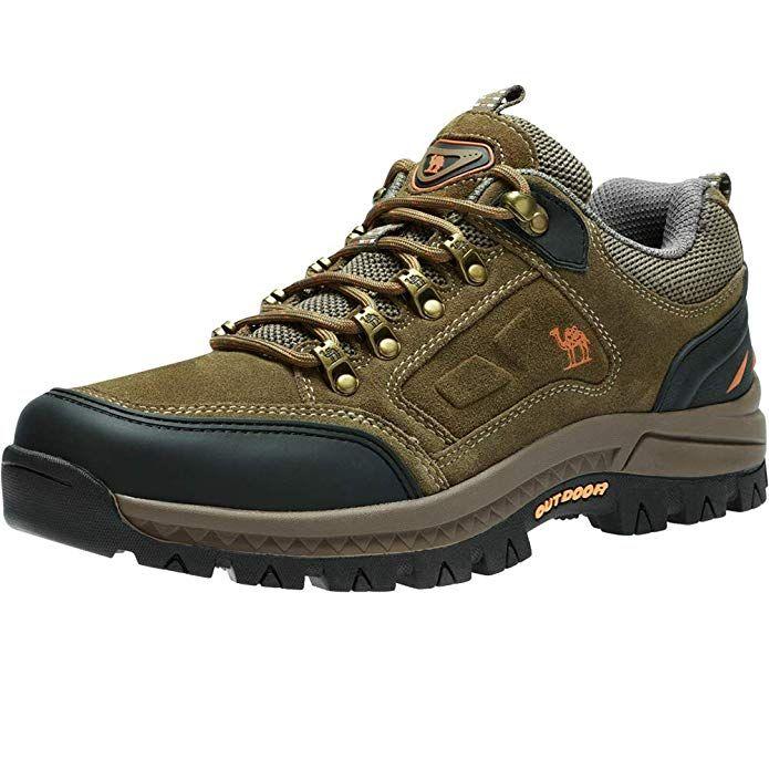 751a1bd6e7c1e CAMEL CROWN Men's Hiking Shoes Lightweight Leather Sneaker Walking ...