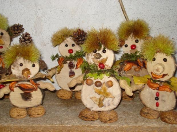 Zabavte sa s deťmi pri výrobe panáčikov z materiálov, ktoré nájdete na dvore, v parku alebo v lese:) jeseň, pre deti, hračky, jesenné dekorácie, autumn decor
