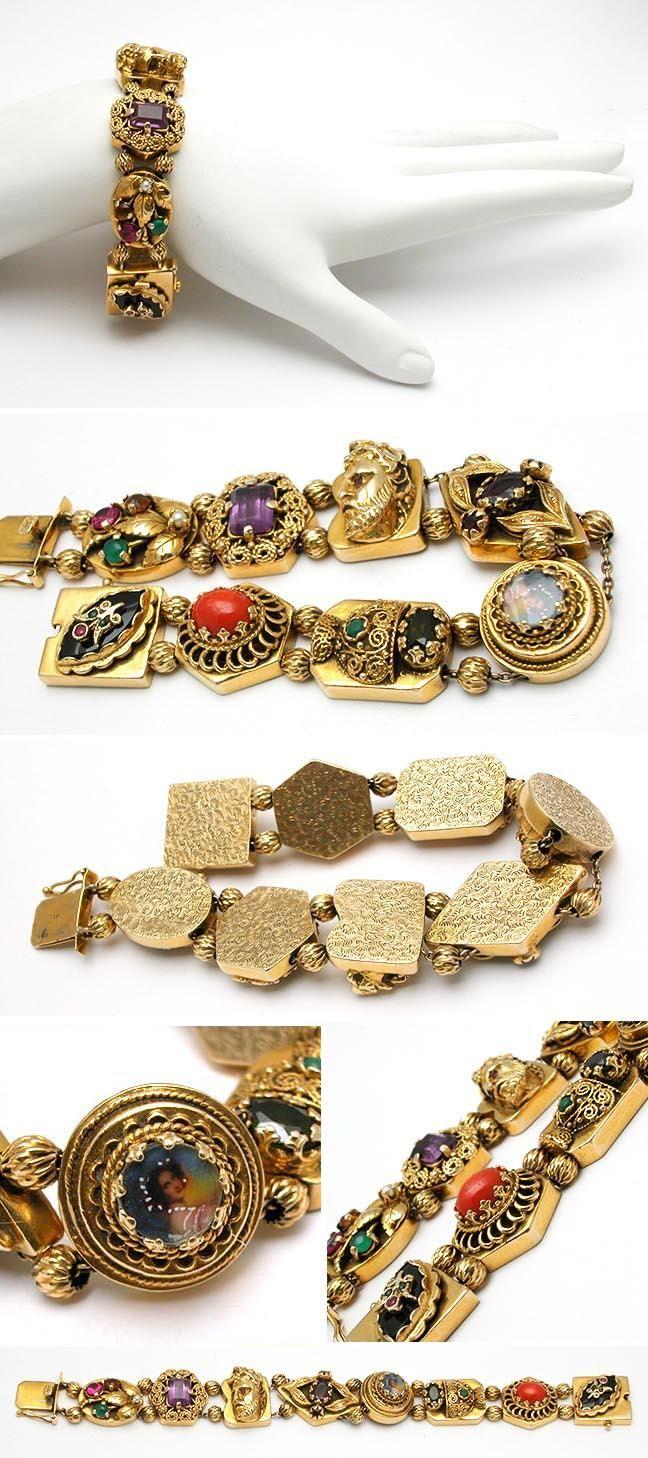 1000+ images about Vintage Slide Bracelets on Pinterest