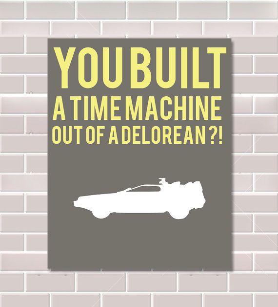 Digital Print Delorean Time Machine Back to the Future 8x10 Wall Art Wall Decor Movie Poster