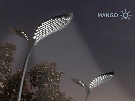 The Mango street light is meant to make use of the weather patterns of India, which can consist of monsoons certain parts of the year, and blazing hot sun for the remainder of the year.
