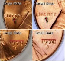 Learn the Key Dates, Rarities, and Varieties of Lincoln Memorial Pennies: 1970-S: Small Date Variety