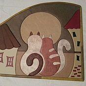 Картины и панно ручной работы. Ярмарка Мастеров - ручная работа Картина-панно Свидание под луной. Handmade.