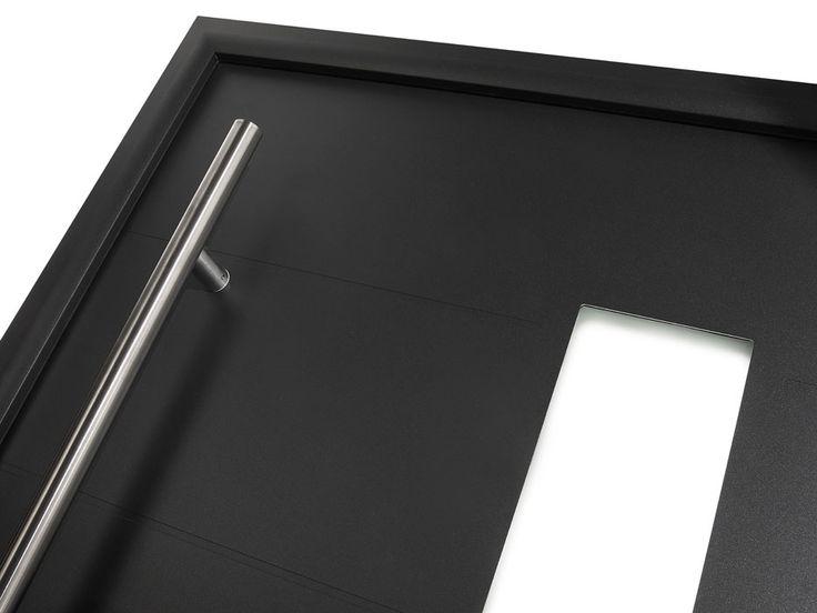 D tail de la porte d 39 entr e aluminium contemporaine cotim for Securiser sa porte d entree