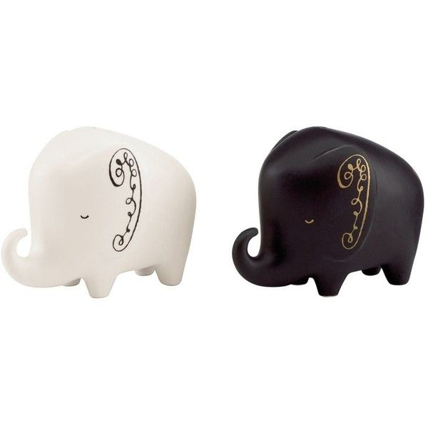 kate spade new york Elephant Salt & Pepper Shakers Black And White By found on Polyvore featuring home, kitchen & dining, serveware, kitchen tools & utensils, kate spade, salt pepper shakers, salt n pepper shakers, elephant salt and pepper shakers и salt pepper shaker