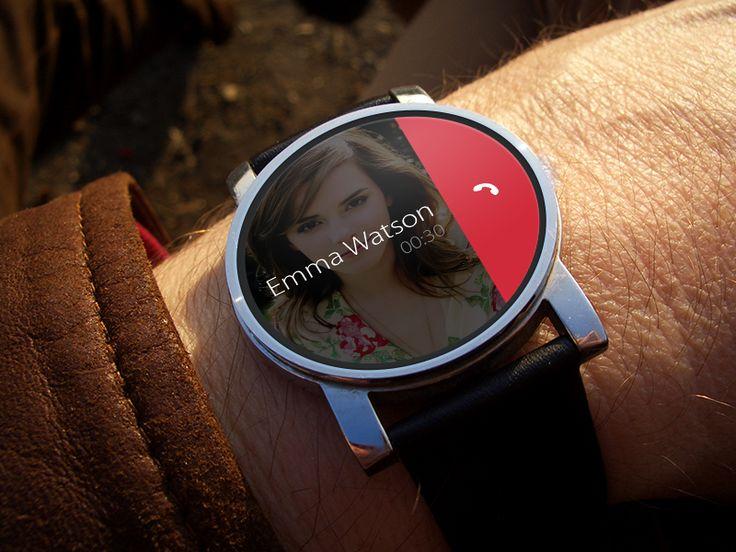 Smartwatch Phone Call UI by Luke Zammit