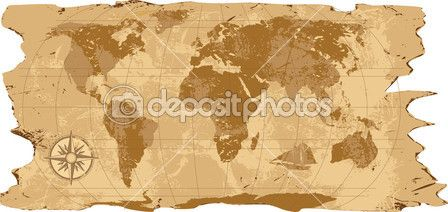 A grunge, rustic world map — Stock Illustration #39904279