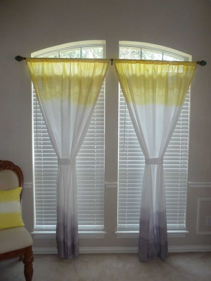 Grey And Yellow Panel Curtains
