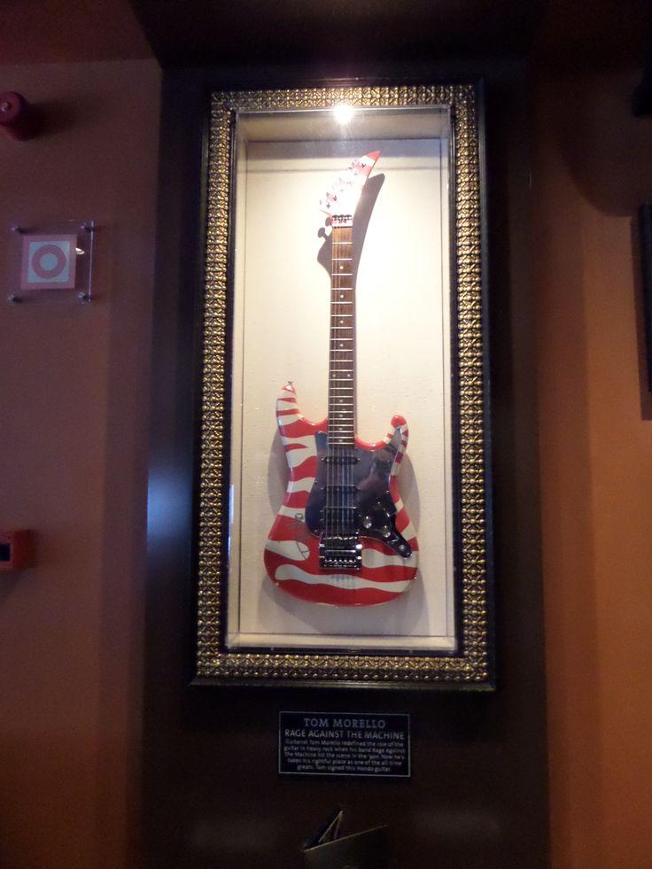 Tom Morello's guitar @ HardRock Cafe, Lisbon, Portugal