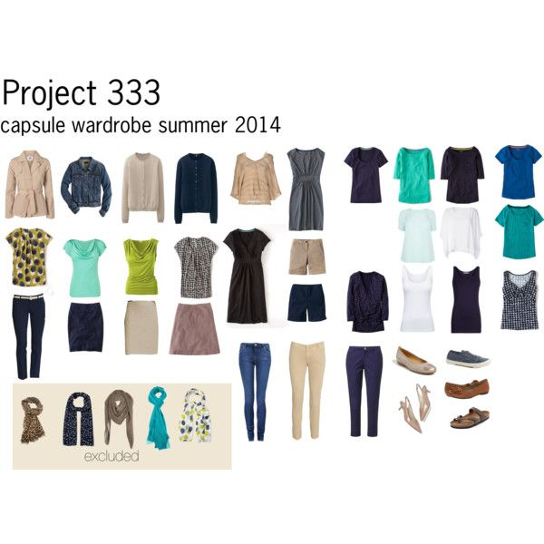"""""""Project 333 summer capsule"""" by lillyicity on Polyvore"""