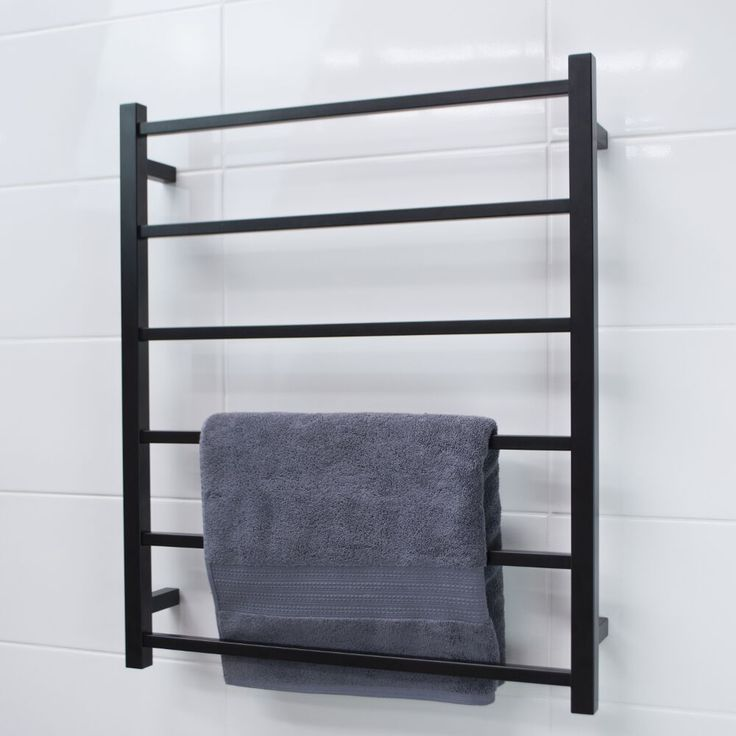 New mat black heated towel rails available for purchase.  info@elitehardware.com.au (03) 9429 1211