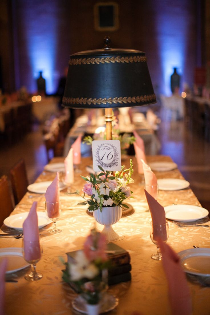 Wedding #tablescape | Photo- Laura Ivanova | http://www.stylemepretty.com/2012/12/06/st-paul-library-wedding-from-laura-ivanova-photography/