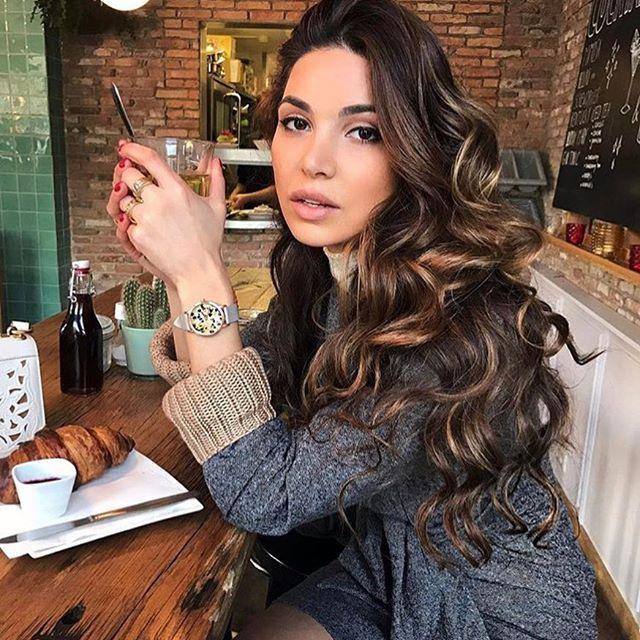 Morning coffee ☕️ via @zarainternational ❣️ 📷 @negin_mirsalehi Check link in bio | Hair styles, Great hair, Hair