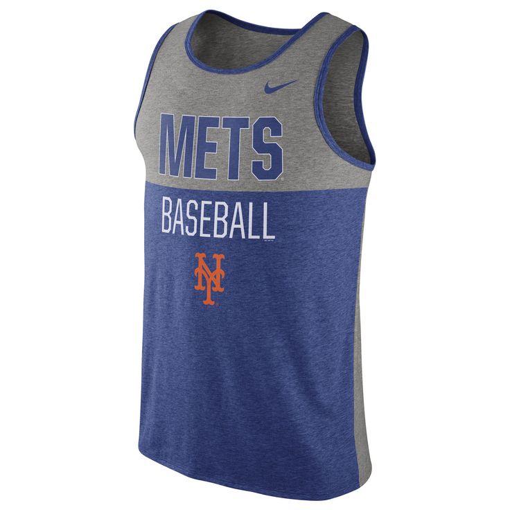 Men's New York Mets Nike Royal Tri-Blend Tank Top