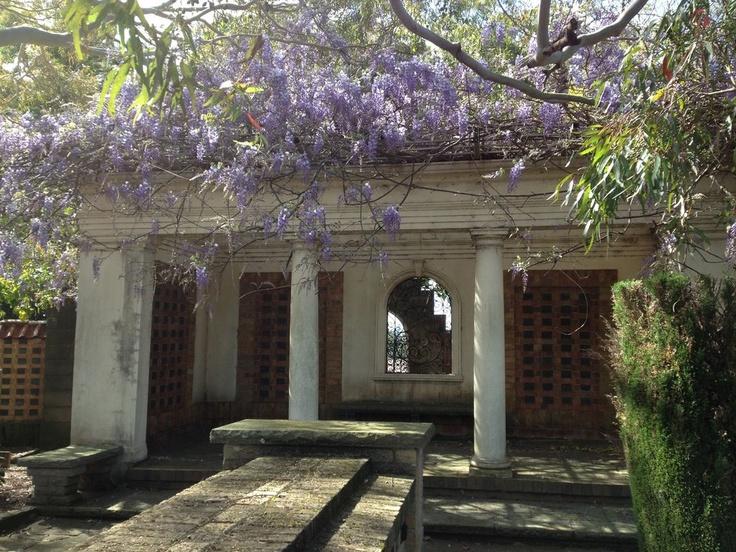 Garden area at Rookwood Gardens Crematorium, the first crematorium in Sydney.