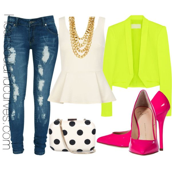 original neon color outfits 12
