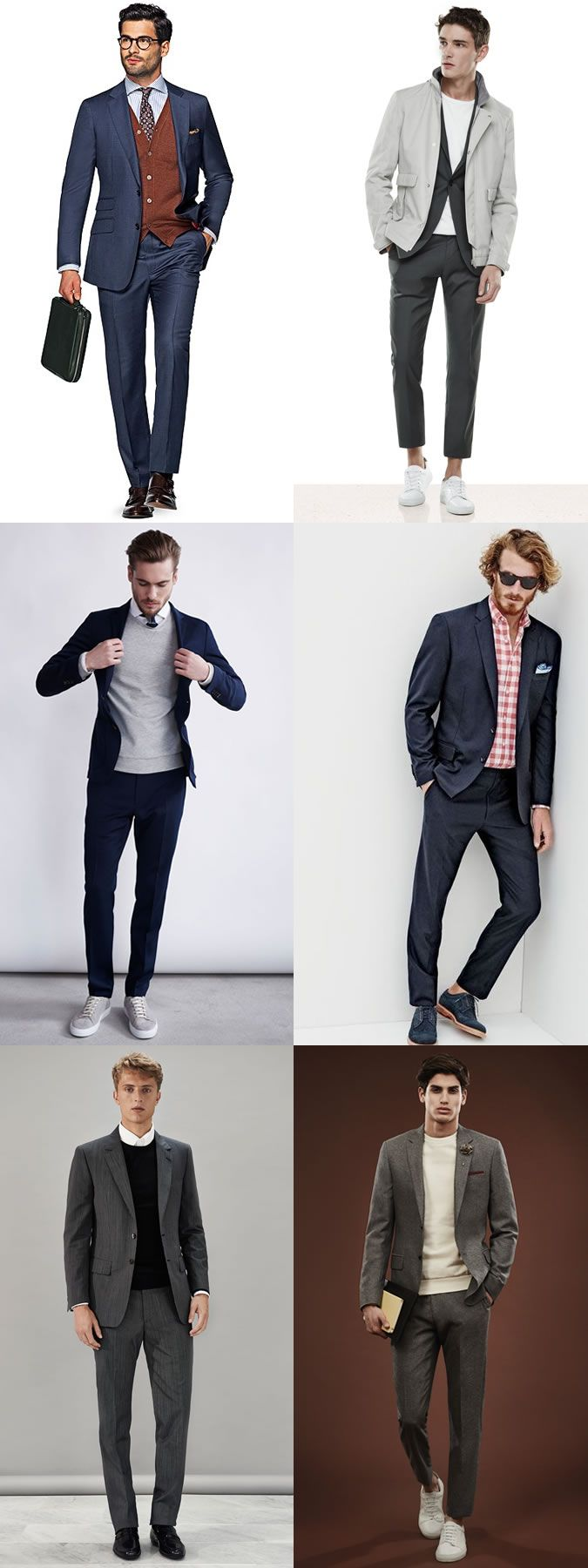 Men's Summer and winter suit styling tricks outfit inspiration lookbook