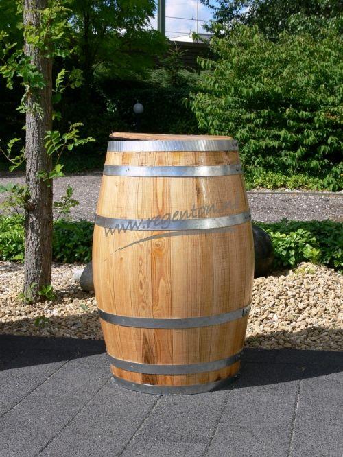 Regenton 100 liter met los deksel blank gelakt - Webshop - Regenton.nl