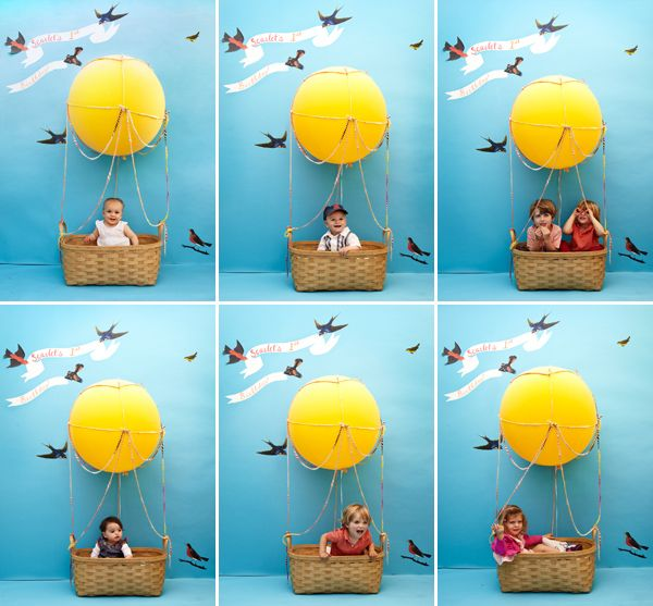 Kids' Hot Air Balloon Photobooth DIY via Oh Happy Day!