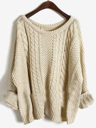 cream pullover sweater.